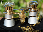 Levenhuk Broadway 325F Opera Glasses (silver, with LED light and chain)